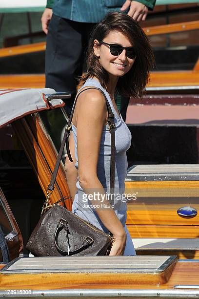Anna Safroncik is seen during The 70th Venice International Film Festival on August 31 2013 in Venice Italy