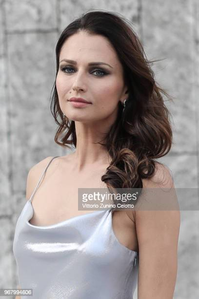 Anna Safroncik poses on June 5 2018 in Milan Italy