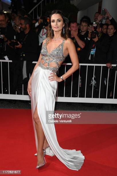 Anna Safroncik walks the red carpet ahead of the Waiting For The Barbarians screening during the 76th Venice Film Festival at Sala Grande on...