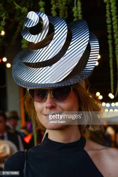 Anna Sandin attends the 2018 High Line Hat Party at the The High Line on June 14 2018 in New York City