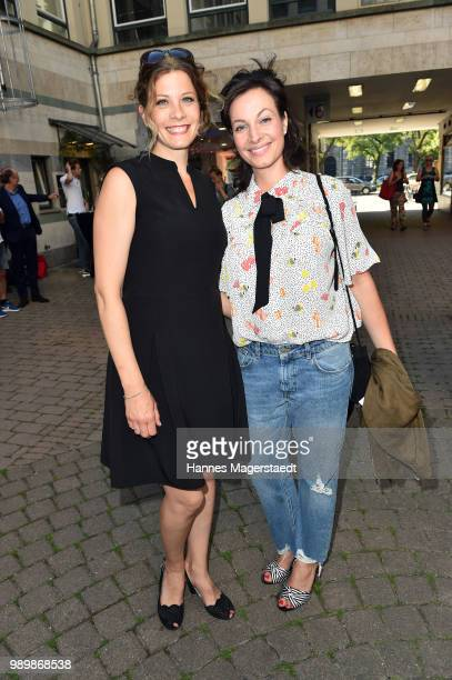 Anna Schaefer and Dagni Dewath attend the premiere of the movie 'Hanne' as part of the Munich Film Festival 2018 at Gloria Palast on July 2 2018 in...