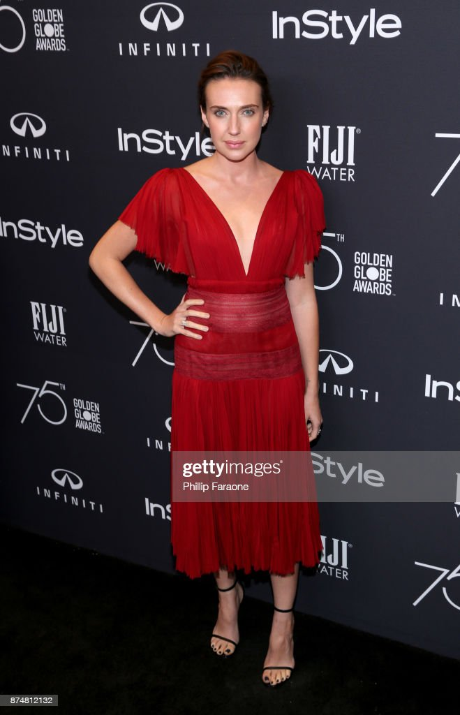 Anna Schafer attends the HFPA's and InStyle's Celebration of the 2018 Golden Globe Awards Season and the Unveiling of the Golden Globe Ambassador at Catch on November 15, 2017 in West Hollywood, California.