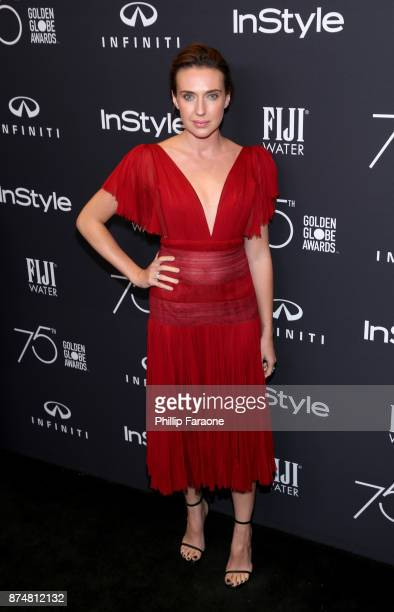 Anna Schafer attends the HFPA's and InStyle's Celebration of the 2018 Golden Globe Awards Season and the Unveiling of the Golden Globe Ambassador at...