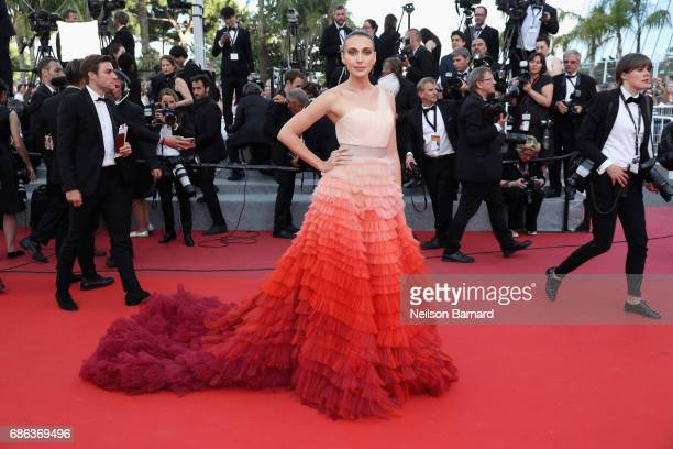 Anna Schafer attends the 'The Meyerowitz Stories' screening during the 70th annual Cannes Film Festival at Palais des Festivals on May 21 2017 in...
