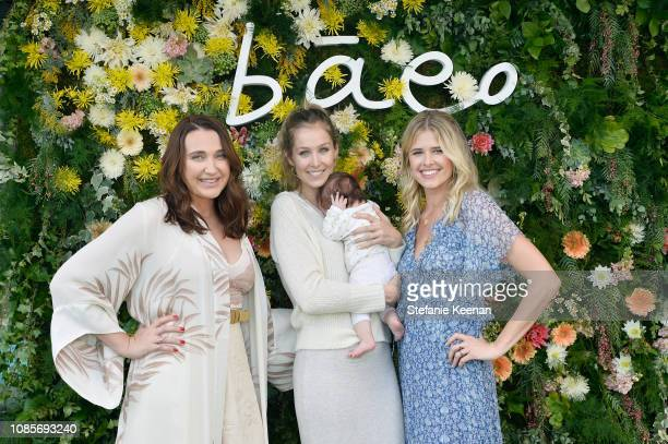 Anna Schafer Kathryn Boyd Brolin and Sarah Wright Olsen attend Baeo Launch Party at Private Residence on January 20 2019 in Pacific Palisades...