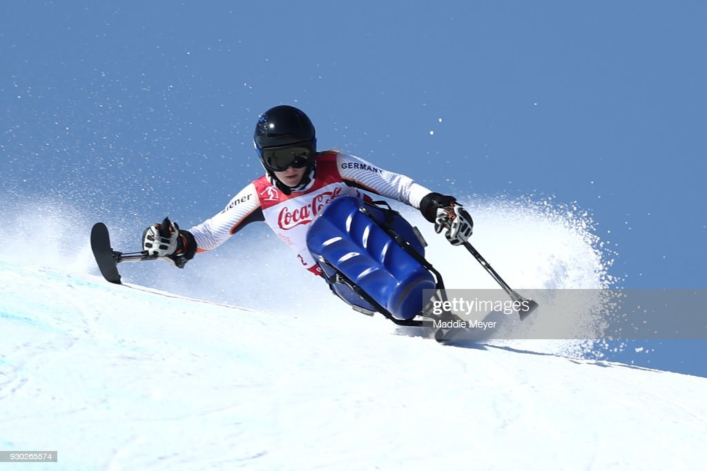 Anna Schaffelhuber of Germany competes in the Women's Sitting Super-G at Jeongseon Alpine Centre on Day 2 of the PyeongChang 2018 Paralympic Games on March 11, 2018 in Pyeongchang-gun, South Korea.