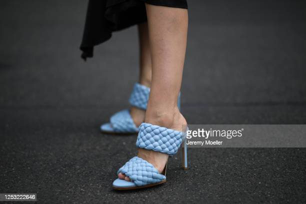Anna Schürrle wearing Anine Bing skirt and Bottega Veneta heels on June 28 2020 in Berlin Germany