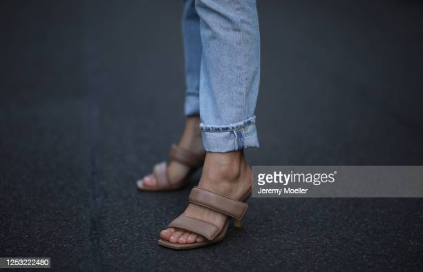 Anna Schürrle wearing Citizen of humanity jeans and Gia heels on June 28 2020 in Berlin Germany