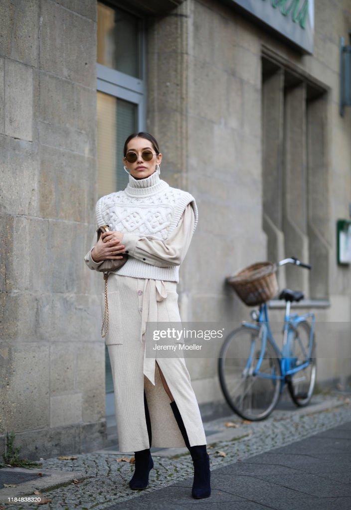 Street Style - Berlin - October 31, 2019 : News Photo