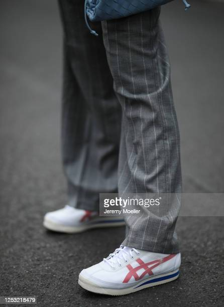 Anna Schürrle wearing Max Mara pants and Tiger sneaker on June 28 2020 in Berlin Germany