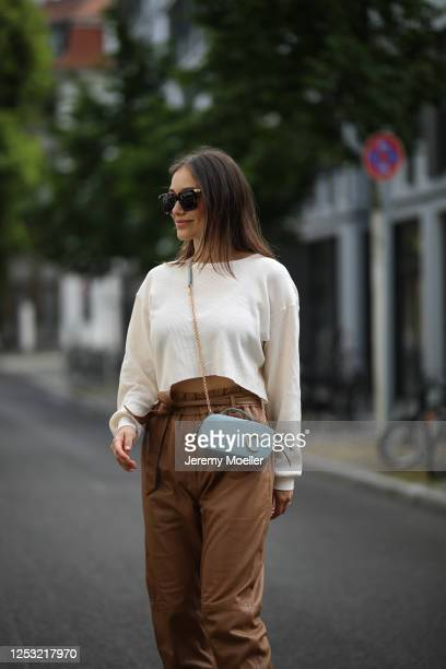 Anna Schürrle wearing Munthe pants Twenty Montreal top and Chloe bag on June 28 2020 in Berlin Germany