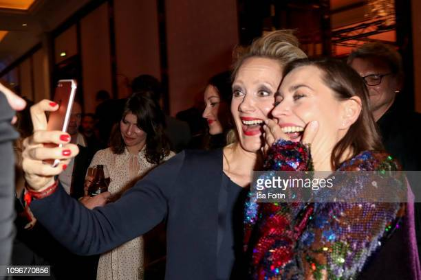 Anna Schudt and Chistiane Paul attend the Medienboard Berlin-Brandenburg Reception on the occasion of the 69th Berlinale International Film Festival...