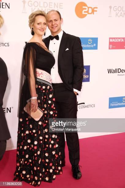 Anna Schudt and Moritz Führmann attend the Goldene Kamera at Tempelhof Airport on March 30, 2019 in Berlin, Germany.