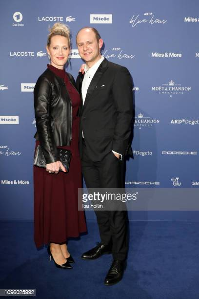 Anna Schudt and Moritz Fuehrmann attend the Blue Hour Party hosted by ARD during the 69th Berlinale International Film Festival at Haus der...