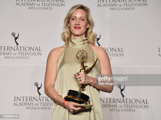 Anna Schudt attends the 46th Annual International Emmy Awards at New York Hilton on November 19 2018 in New York City
