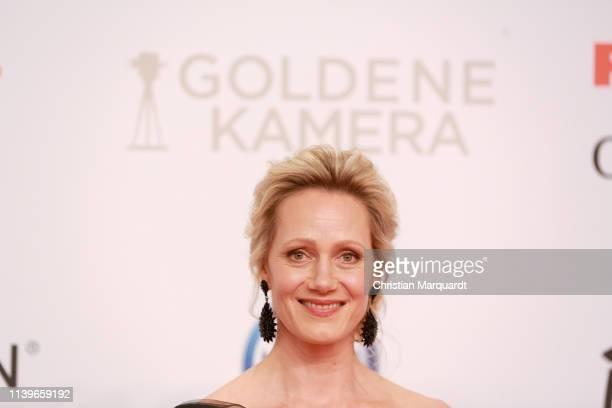 Anna Schudt attends the Goldene Kamera at Tempelhof Airport on March 30, 2019 in Berlin, Germany.