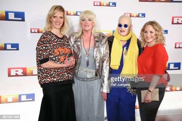 Anna Schudt Gaby Koester Hella von Sinnen and Jasmin Schwiers attend the premiere of the film 'Gaby Koester Ein Schnupfen haette auch gereicht' at...