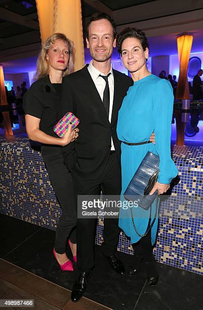 Anna Schudt Joerg Hartmann and Bibiana Beglau during the ARD advent dinner hosted by the program director of the tv station Erstes Deutsches...