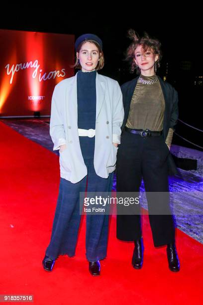 Anna Schulz and Paulina Schulz alisa Djanes WOS attend the Young ICONs Award in cooperation with ICONIST at BRLO Brwhouse on February 14 2018 in...