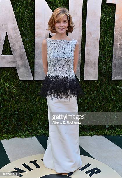 Anna Scott arrives at the 2013 Vanity Fair Oscar Party hosted by Graydon Carter at Sunset Tower on February 24 2013 in West Hollywood California