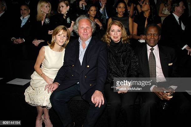 Anna Scott Carter, Graydon Carter, Joanna Shimkus Poitier and Sidney Poitier attend GIORGIO ARMANI Prive in Los Angeles at Private Residence on...
