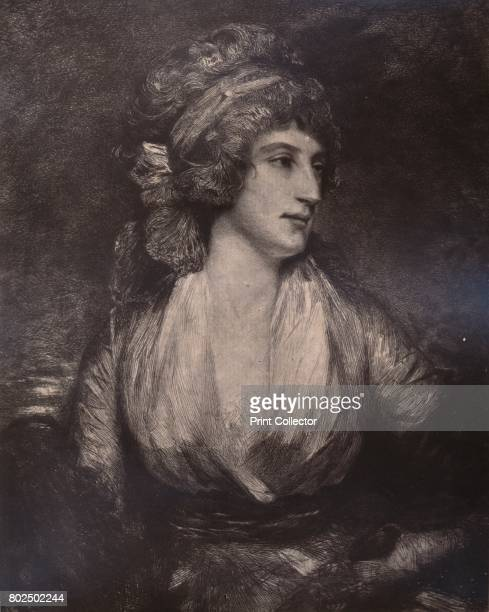 Anna Seward English writer and poet known as the Swan of Lichfield c late 18th or early 19th century From A Collection of Engraved Portraits...