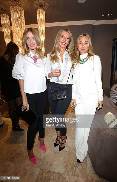 Anna Shamis Anna Dodonova and guest at Anna Casa Interiors celebrating the showroom redesign and launch of Caroline True collection at Anna Casa...