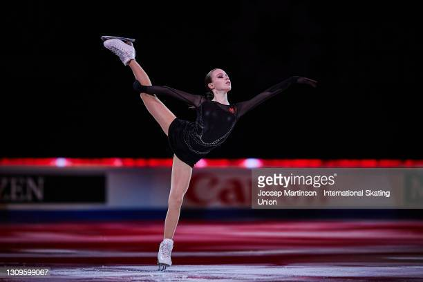Anna Shcherbakova of FSR performs in the Gala Exhibition during day five of the ISU World Figure Skating Championships at Ericsson Globe on March 28,...