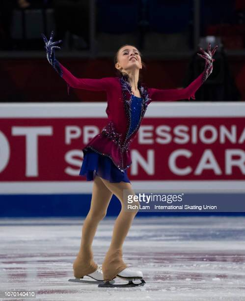 Anna Shcherbakova of Russia competes in the Free Skate portion of the Junior Ladies Championships on December 2018 at the ISU Junior Senior Grand...