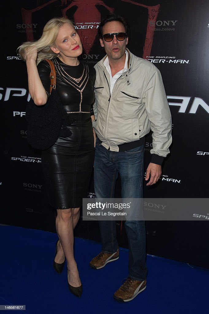 Anna Sherbinina and Anthony Delon attend 'The Amazing Spider-Man' Paris Film premiere at Le Grand Rex on June 19, 2012 in Paris, France.