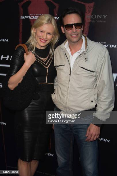 Anna Sherbinina and Anthony Delon attend 'The Amazing SpiderMan' Paris Film premiere at Le Grand Rex on June 19 2012 in Paris France