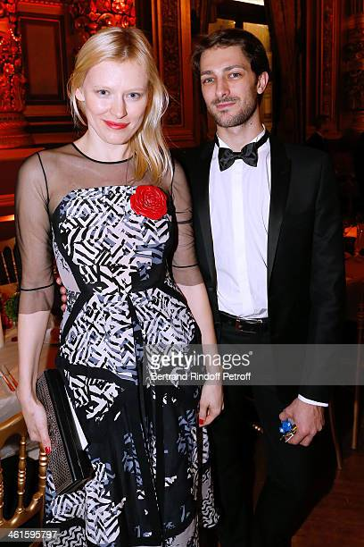 Anna Sherbinina and Star Dancer Mathieu Ganio attend Arop Charity Gala with 'Ballet du Theatre Bolchoi' Held at Opera Garnier on January 9 2014 in...