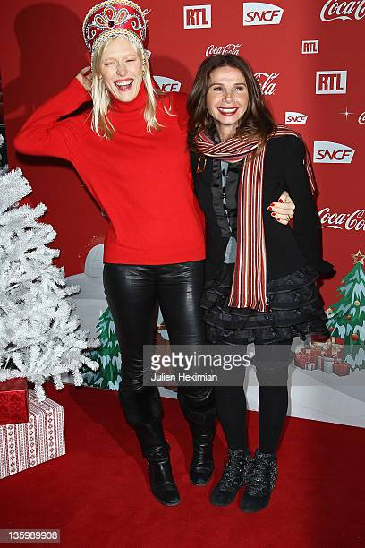Anna Sherbinina and Victoria Abril attend 'Association Petits Princes' And Coca Cola Red Train Launch at Gare de L'Est on December 15 2011 in Paris...