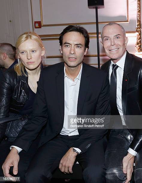 Anna Sherbinina Anthony Delon and JeanClaude Jitrois attend the Jitrois Fall/Winter 2013 ReadytoWear show as part of Paris Fashion Week on March 6...