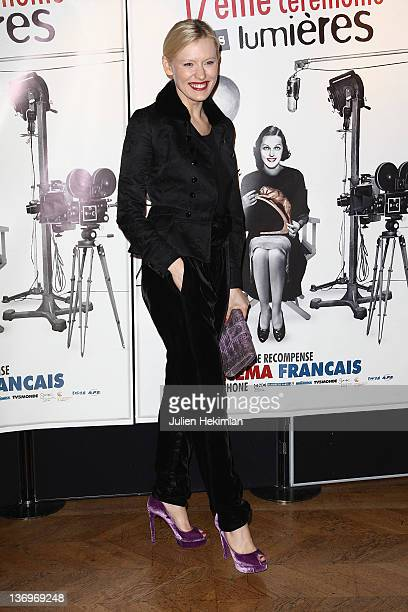 Anna Sherbinina attends the 17th 'Ceremonie Des Lumieres' at Hotel de Ville on January 13 2012 in Paris France