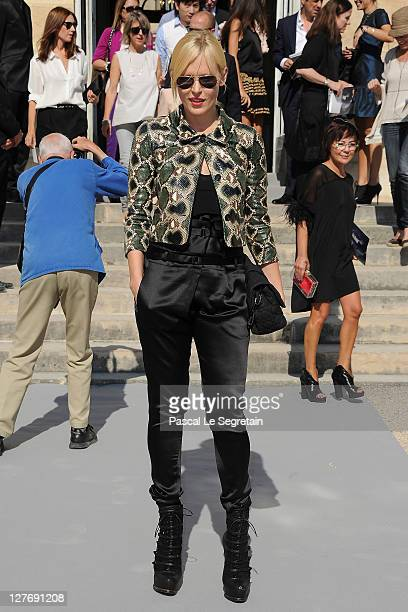 Anna Sherbinina attends the Christian Dior Ready to Wear Spring / Summer 2012 show during Paris Fashion Week at Musee Rodin on September 30 2011 in...