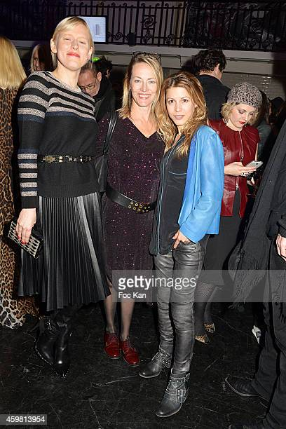 Anna Sherbinina Gabrielle Lazure and Tristane Banon attend the Maison Jean Paul Gaultier Hosts 'Le Projet ICCARRE Association' Against AIDS at 325...