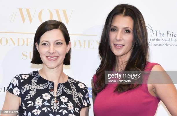 Anna Shinoda and Talinda Bennington attend The Wonder of Women Summit at UCLA on May 2 2018 in Los Angeles California