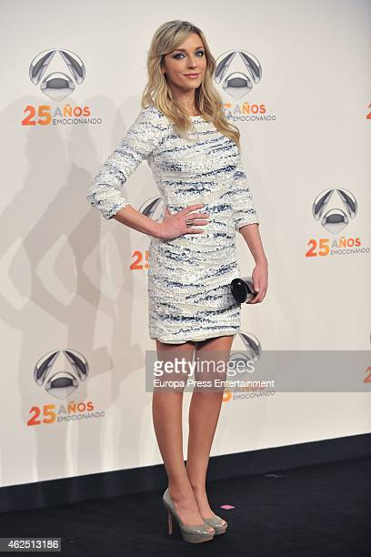 Anna Simon attends 'Antena 3' 25th Anniversary Reception at the Palacio de Cibeles on January 29, 2015 in Madrid, Spain.