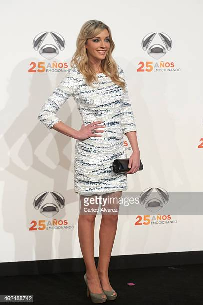 Anna Simon attends Antena 3 TV Channel 25th anniversary party at the Palacio de Cibeles on January 29, 2015 in Madrid, Spain.