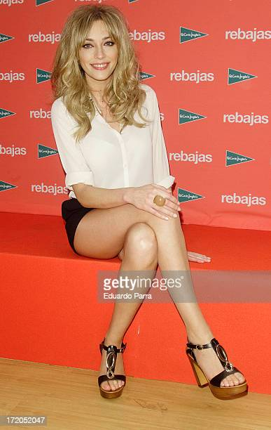 Anna Simon attends El Corte Ingles summer sales campaign press conference at El Corte Ingles store on July 1 2013 in Madrid Spain