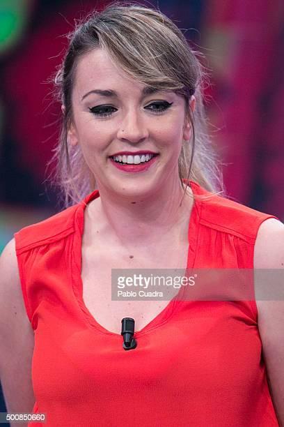 Anna Simon attends 'El Hormiguero' Tv Show at Vertice Studio on December 10, 2015 in Madrid, Spain.