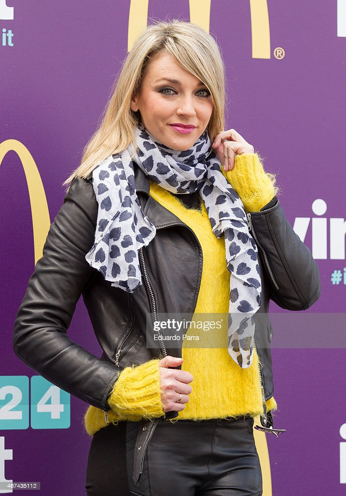 Anna Simon Attends McDonalds Event in Madrid
