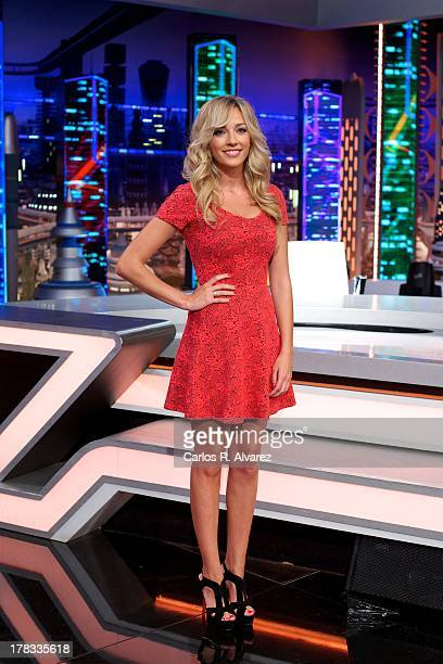 """Anna Simon attends the """"El Hormiguero 3.0"""" new season presentation at the Vertice Studio on August 29, 2013 in Madrid, Spain."""