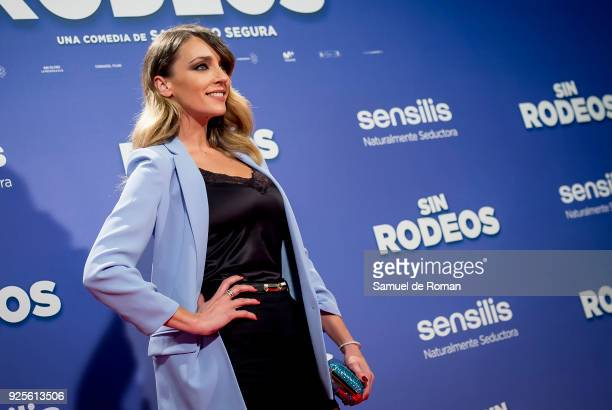 Anna Simon attends the Sin Rodeos Madrid premiere on February 28 2018 in Madrid Spain