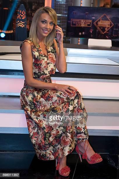 "Anna Simon during the presentation of TV program ""El hormiguero"" in Madrid, on September 1, 2016."