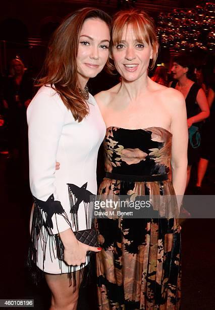 Anna Skellern and AnneMarie Duff attend The Moet British Independent Film Awards 2014 at Old Billingsgate Market on December 7 2014 in London England