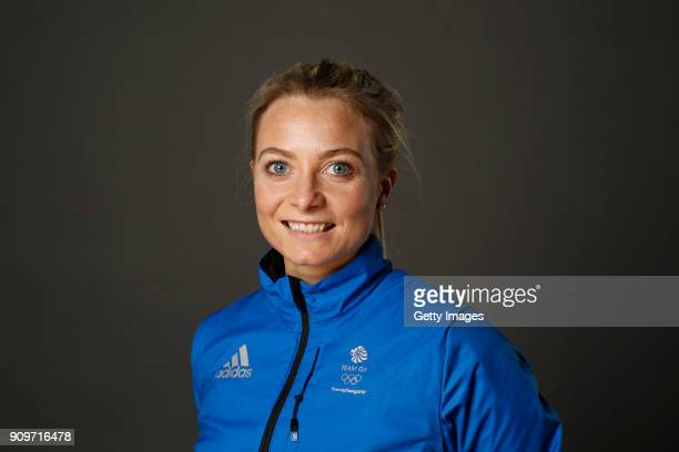 Anna Sloan poses at The Team GB Kitting Out Ahead Of Pyeongchang 2018 Winter Olympic Games on January 24 2018 in Stockport England