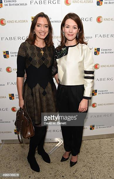 Anna Smorodskaya and Justine Waddell attend as Kino Klassika Celebrates the 90th Anniversary of Eisenstein's Iconic Battleship Potemkin at The...