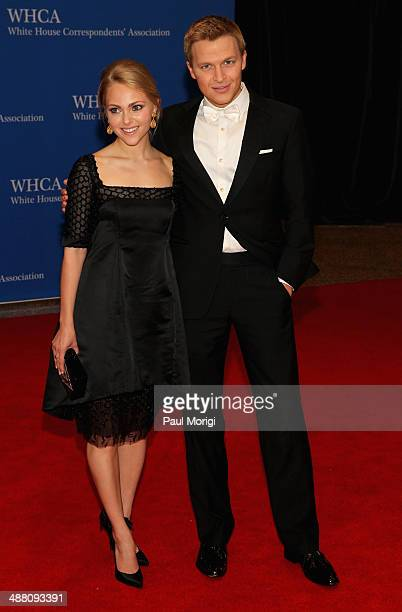 Anna Sophia Robb and Journalist Ronan Farrow attend the 100th Annual White House Correspondents' Association Dinner at the Washington Hilton on May 3...